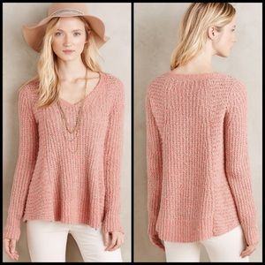 Moth S Anthropologie chunky knit v-neck sweater